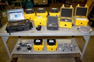 Monitoring equipment on bench