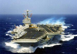 Naval Ship out at sea