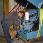 Joe working on an air compressor system