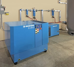 BOGE air compressor system