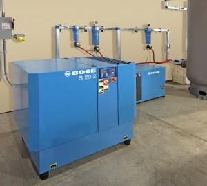 BOGE air compressor system