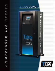 The Titus Company TDX Series Expandable Compressed Air Dryers