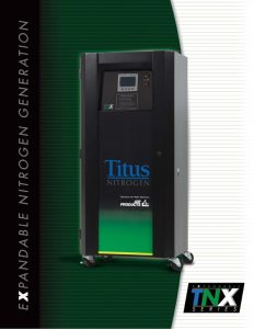 The Titus Company TNX Series Expandable Nitrogen Generation