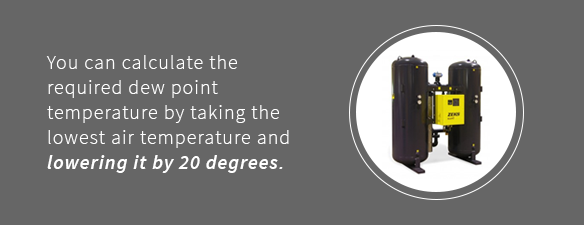 How to calculate your required dew point temperature for your air dryer system.