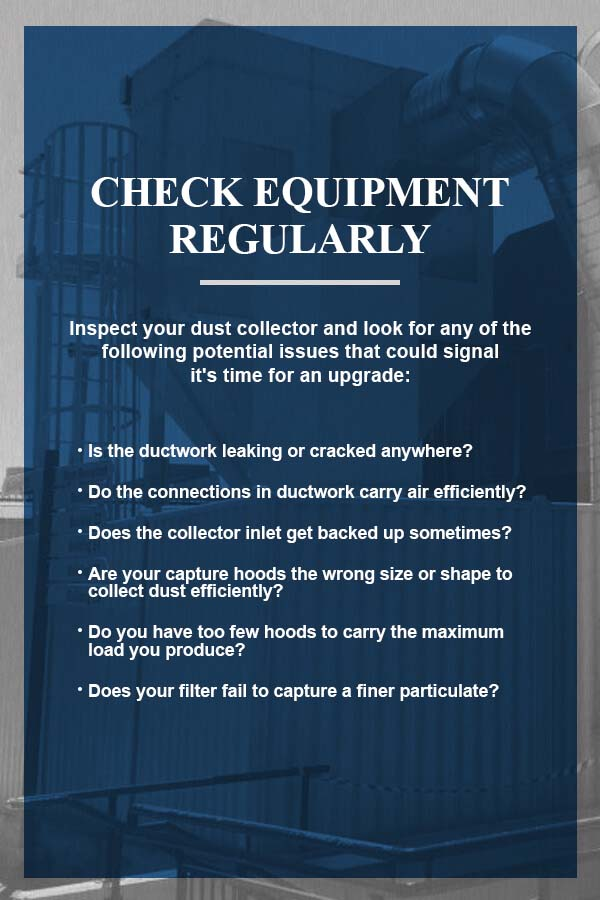 Check dust collection equipment regularly