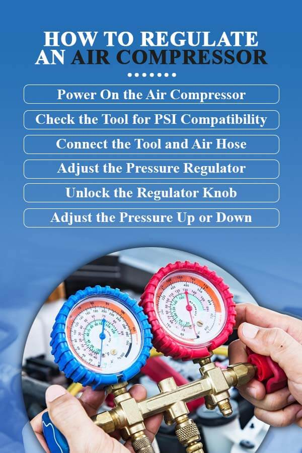 How to regulate an air compressor