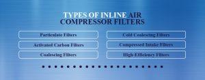 types inline compressor filters