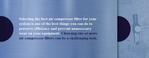 choosing an air compressor filter