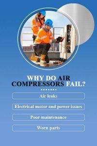 Why do air compressors fail?