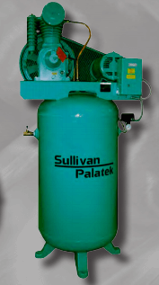 Sullivan-Palatek Lubricated Reciprocating Air Compressors SPVT Series