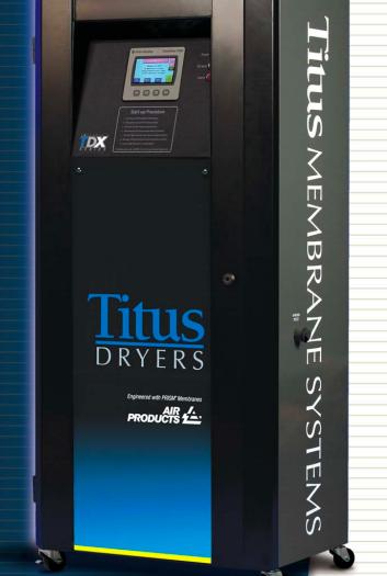 Titus Air Membrane Dryers - TDX Series