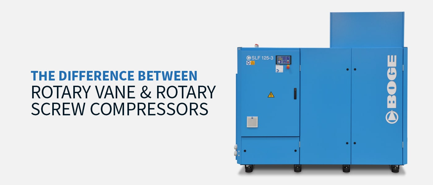 The Difference Between Rotary Vane & Rotary Screw Compressors