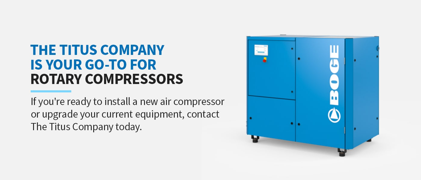 The Titus Company Is Your Go-To for Rotary Compressors