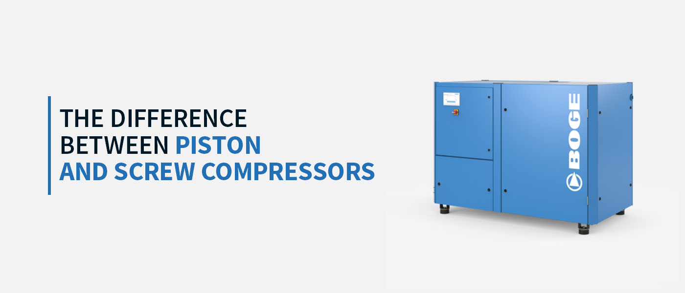 The Difference Between Piston and Screw Compressors